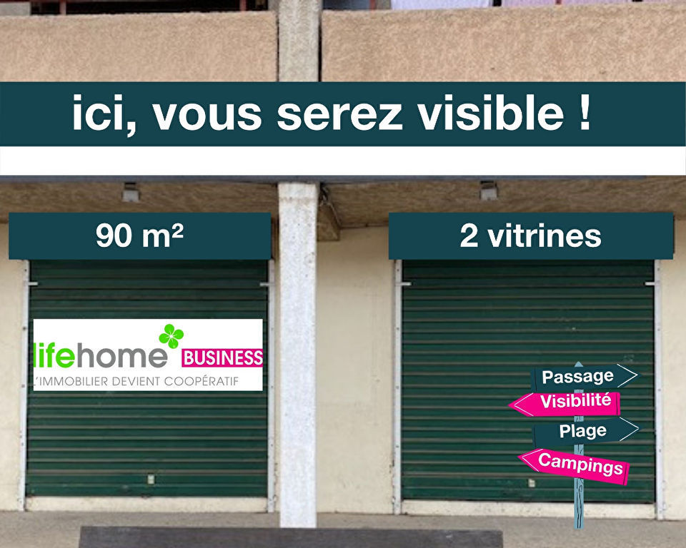 Murs local commercial Valras Plage 90 m2